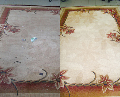 Химчистка ковров - до и после 1