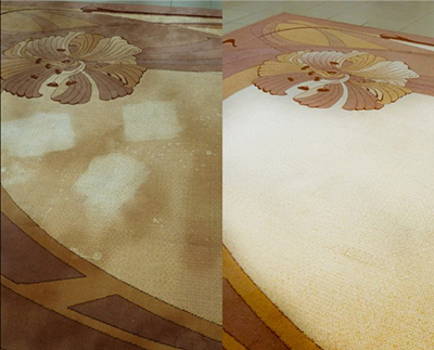 Химчистка и мойка ковров - до и после 2